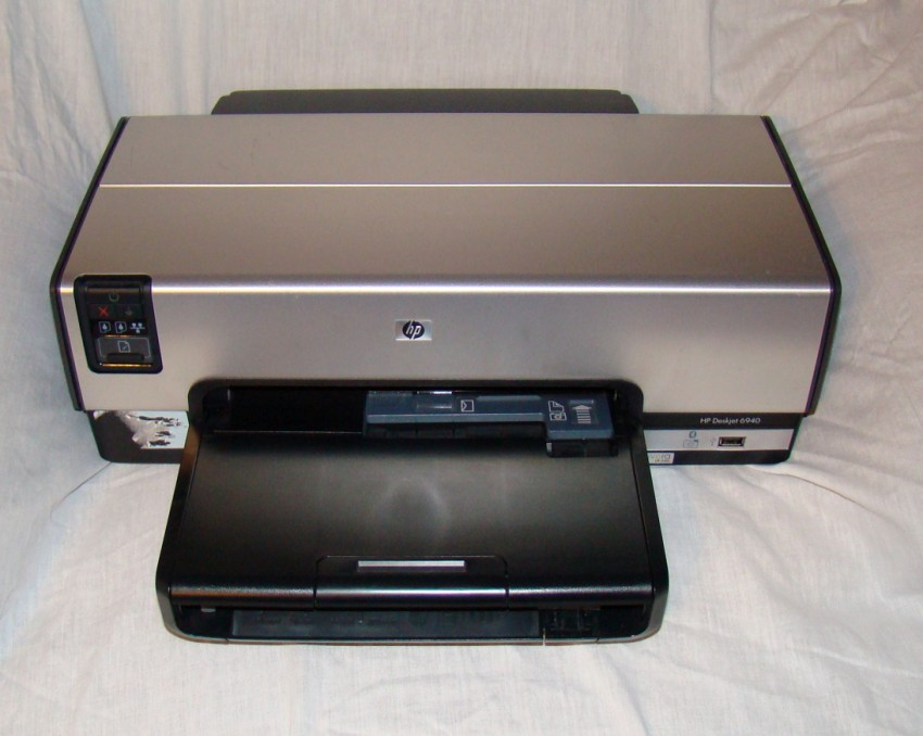 hp deskjet 6940 color inkjet printer for parts or fix ebay. Black Bedroom Furniture Sets. Home Design Ideas